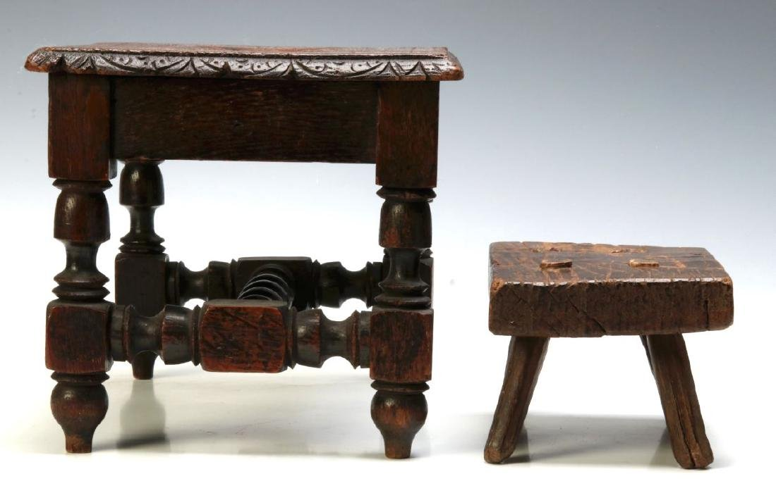TWO EARLY CONTINENTAL STOOLS - 8