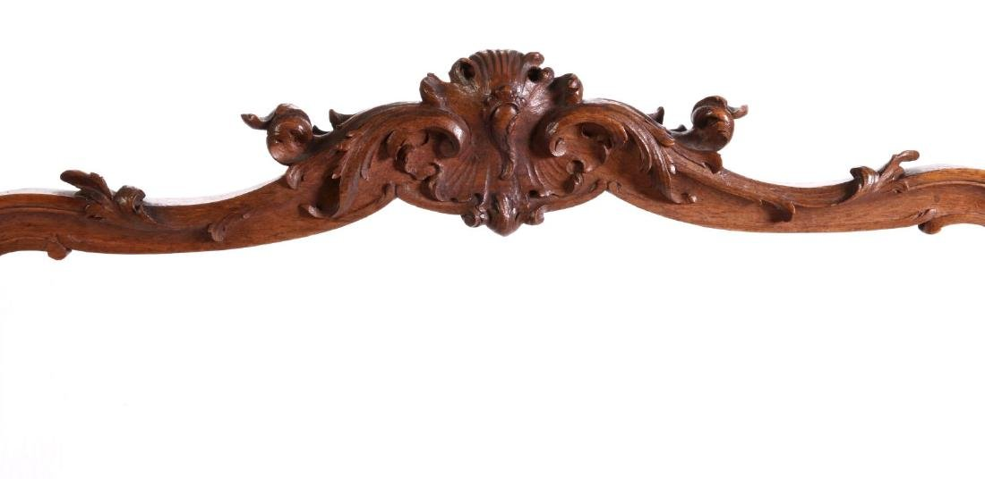 A HIGHLY CARVED ROCOCO REVIVAL WALNUT  SCREEN - 2