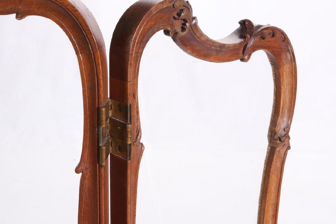 A HIGHLY CARVED ROCOCO REVIVAL WALNUT  SCREEN - 5