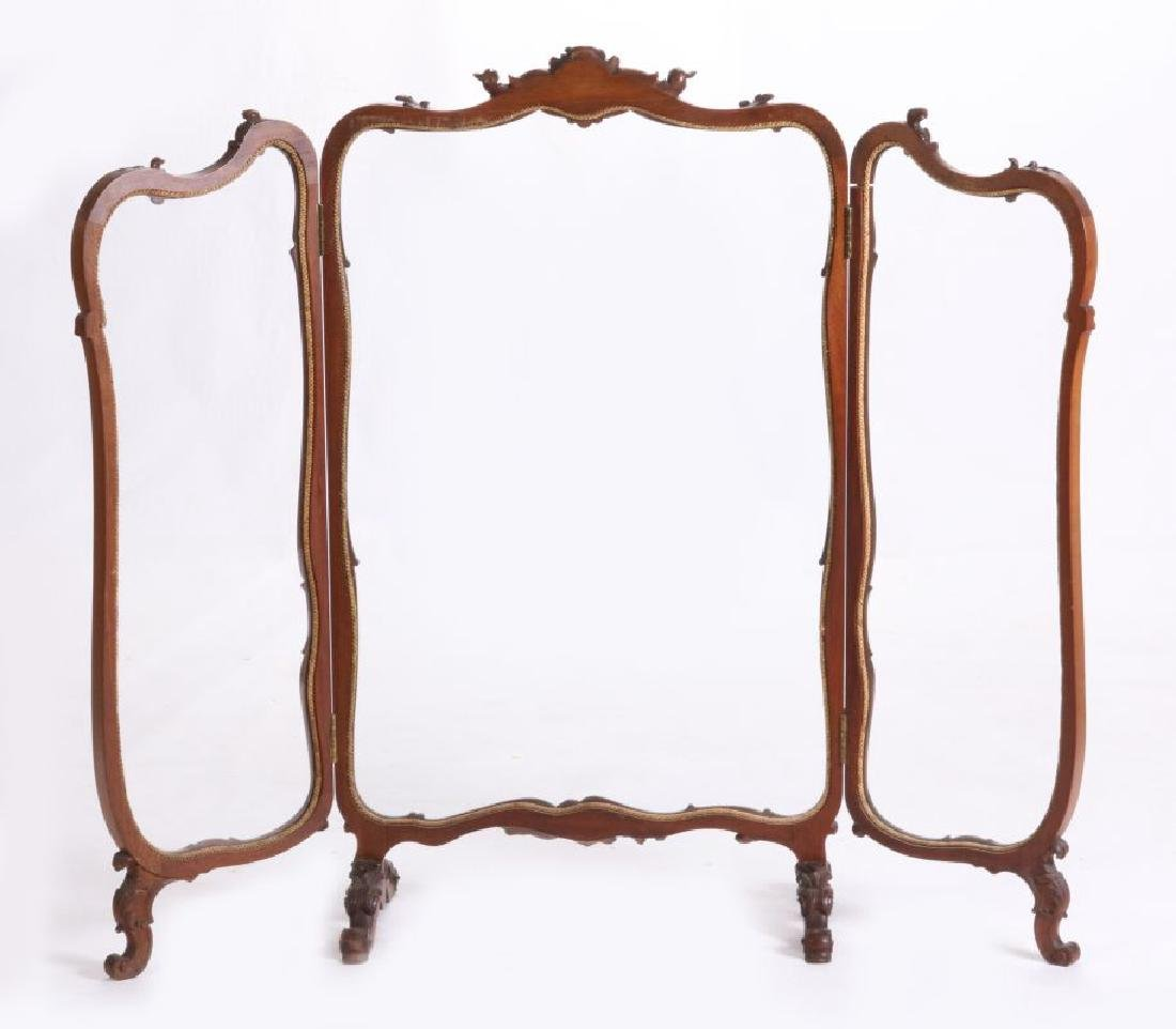 A HIGHLY CARVED ROCOCO REVIVAL WALNUT  SCREEN - 6