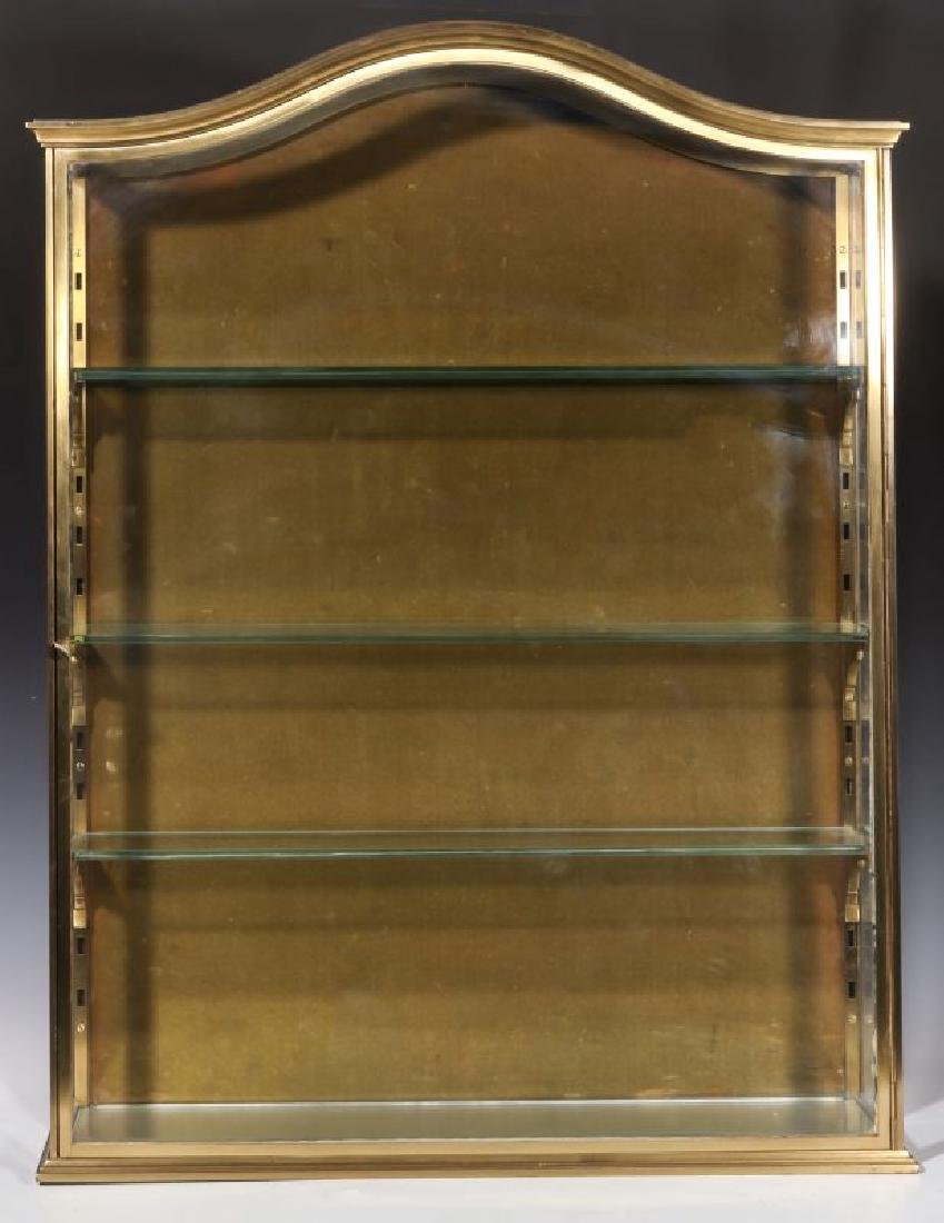 A HEAVY 20TH CENTURY SOLID BRASS DISPLAY CABINET - 2