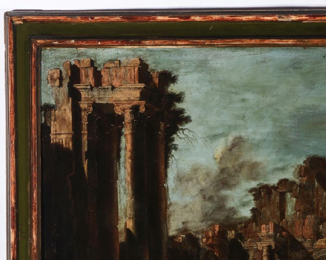 A LATE 18TH /EARLY 19TH C. CAPRICCIO OIL ON CANVAS - 3
