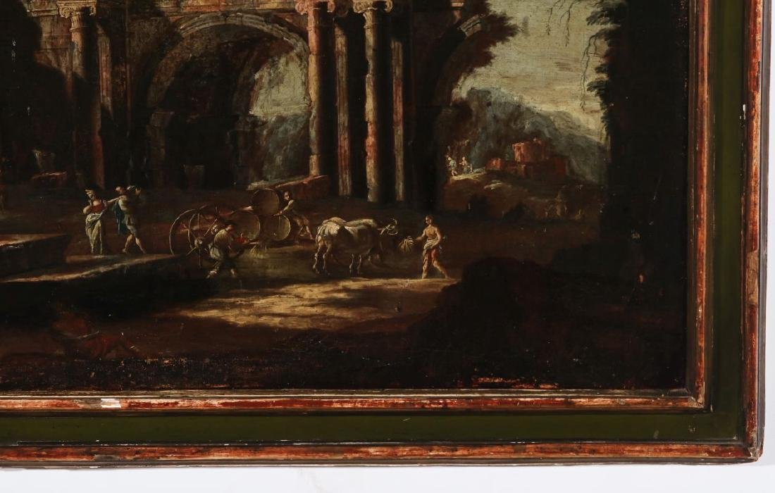 A LATE 18TH /EARLY 19TH C. CAPRICCIO OIL ON CANVAS - 5