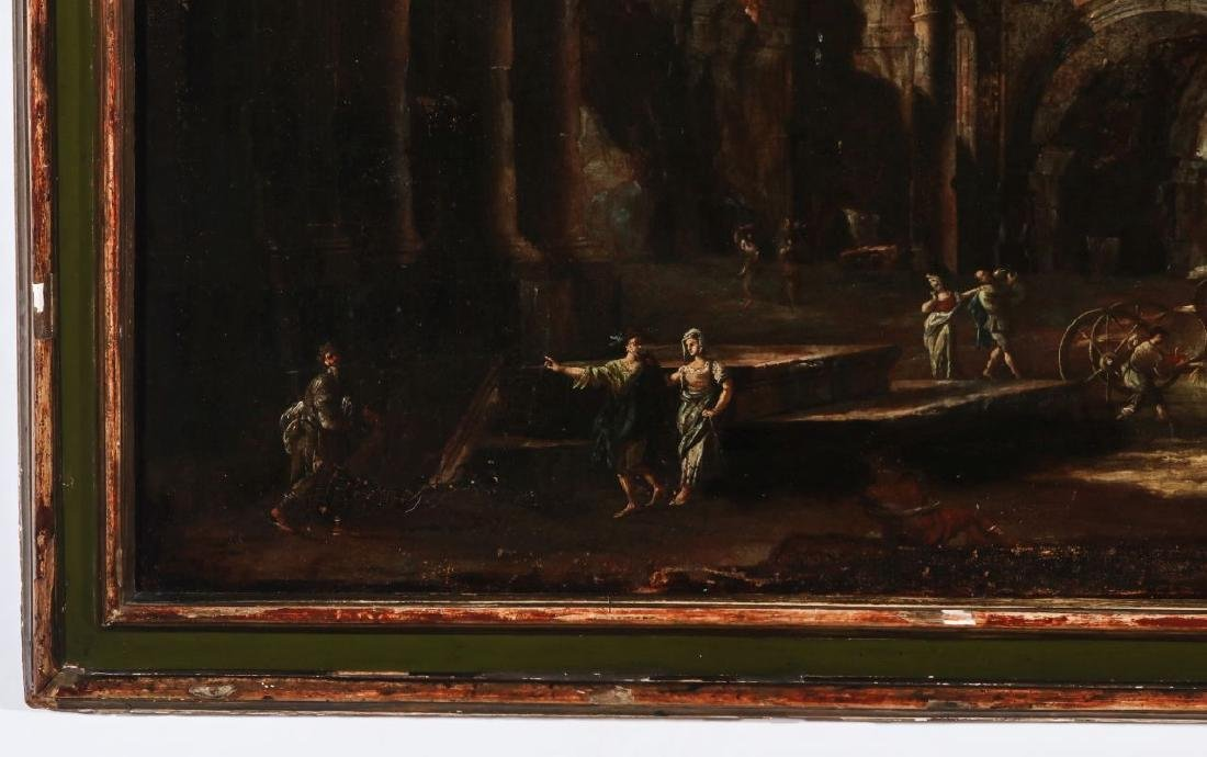 A LATE 18TH /EARLY 19TH C. CAPRICCIO OIL ON CANVAS - 6