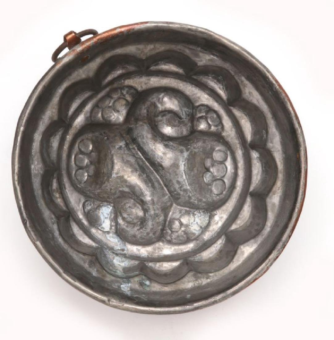 AN ANTIQUE COPPER FOOD MOLD - 7