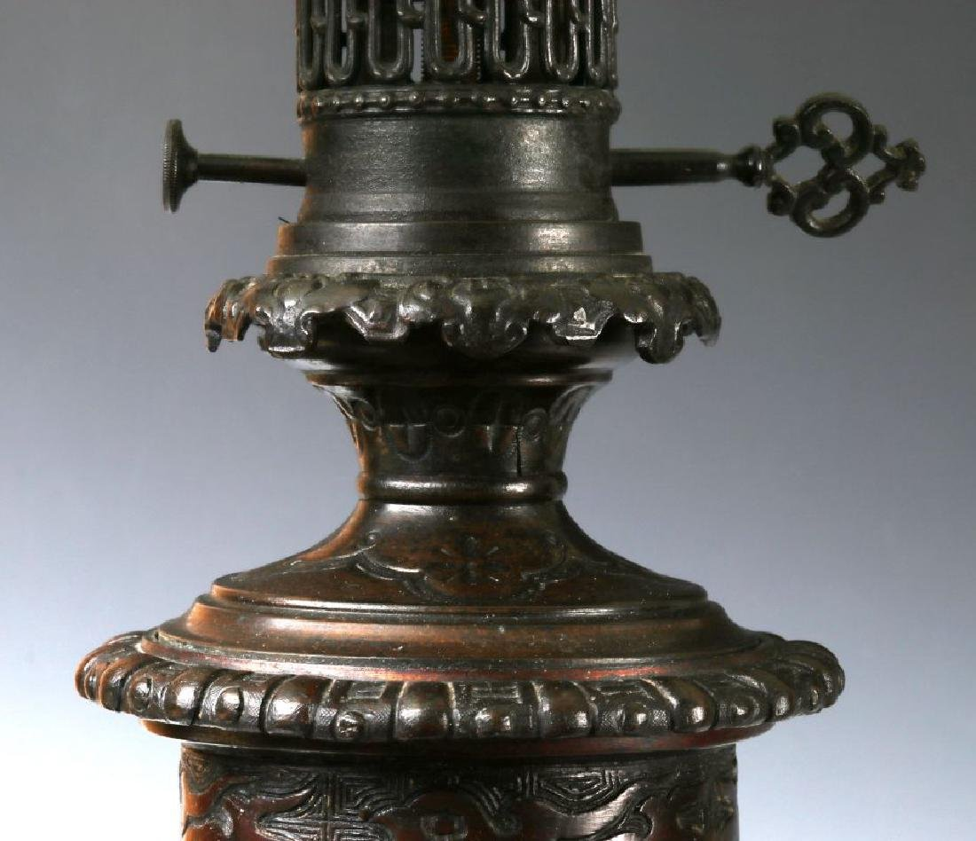 19TH C. FLUID LAMPS IN THE FORM OF CHINESE BRONZE - 4