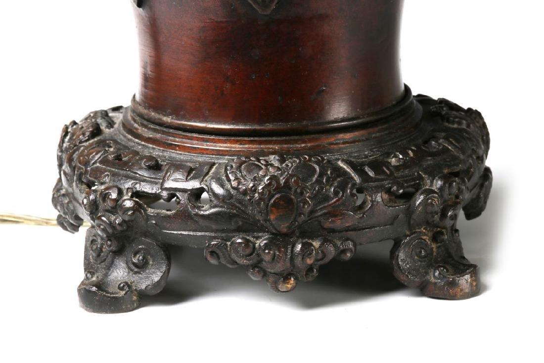 19TH C. FLUID LAMPS IN THE FORM OF CHINESE BRONZE - 6
