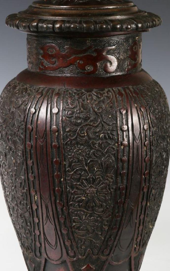 19TH C. FLUID LAMPS IN THE FORM OF CHINESE BRONZE - 8