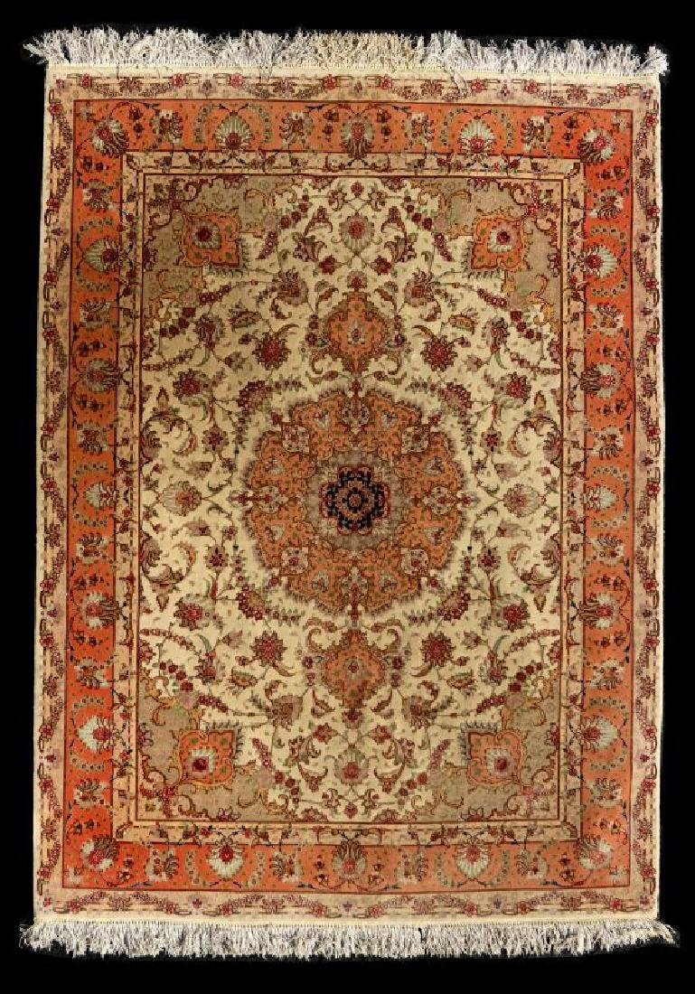 A TABRIZ PATTERN HAND MADE INDO PERSIAN RUG