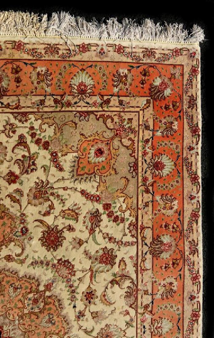 A TABRIZ PATTERN HAND MADE INDO PERSIAN RUG - 2