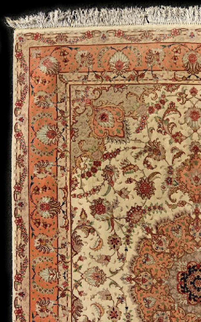 A TABRIZ PATTERN HAND MADE INDO PERSIAN RUG - 3