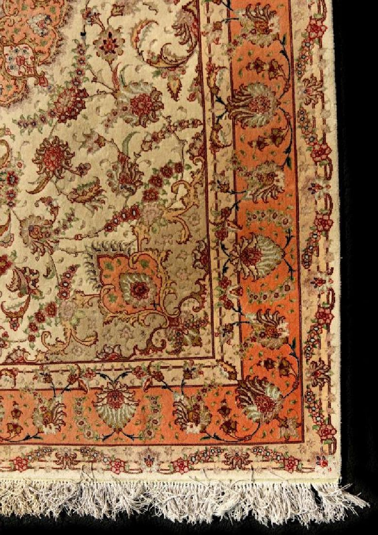 A TABRIZ PATTERN HAND MADE INDO PERSIAN RUG - 5