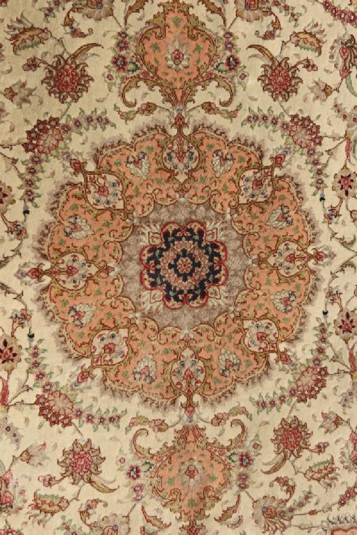 A TABRIZ PATTERN HAND MADE INDO PERSIAN RUG - 6