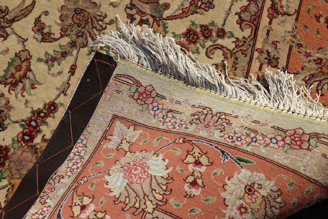 A TABRIZ PATTERN HAND MADE INDO PERSIAN RUG - 7
