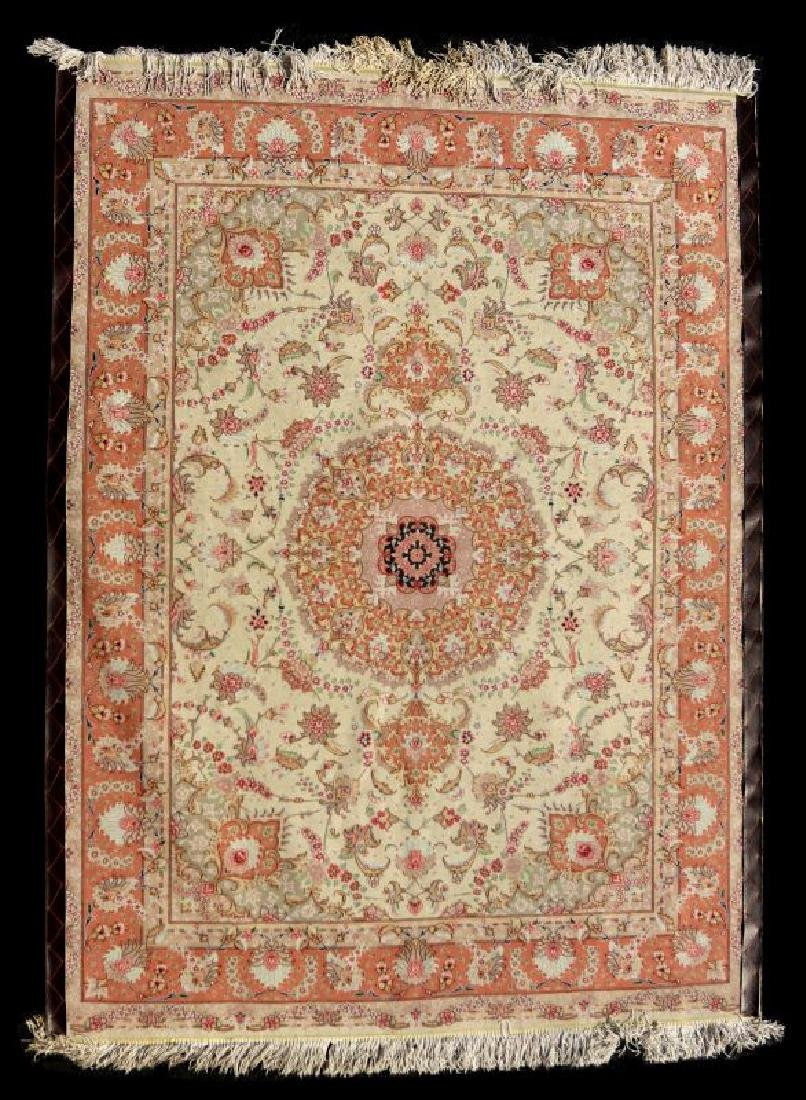 A TABRIZ PATTERN HAND MADE INDO PERSIAN RUG - 8