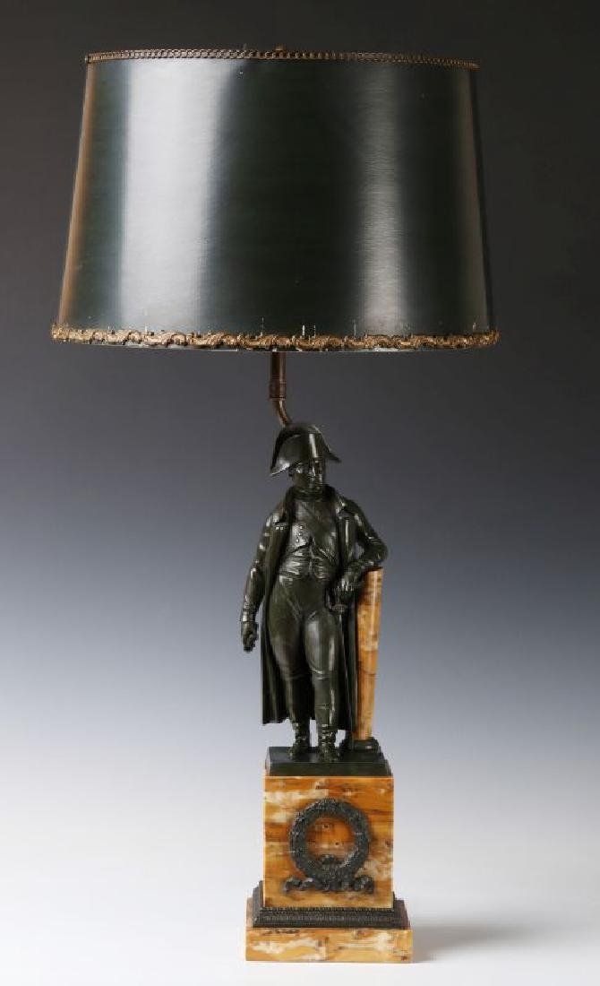 A 19TH C. FRENCH NAPOLEON BRONZE AS TABLE LAMP