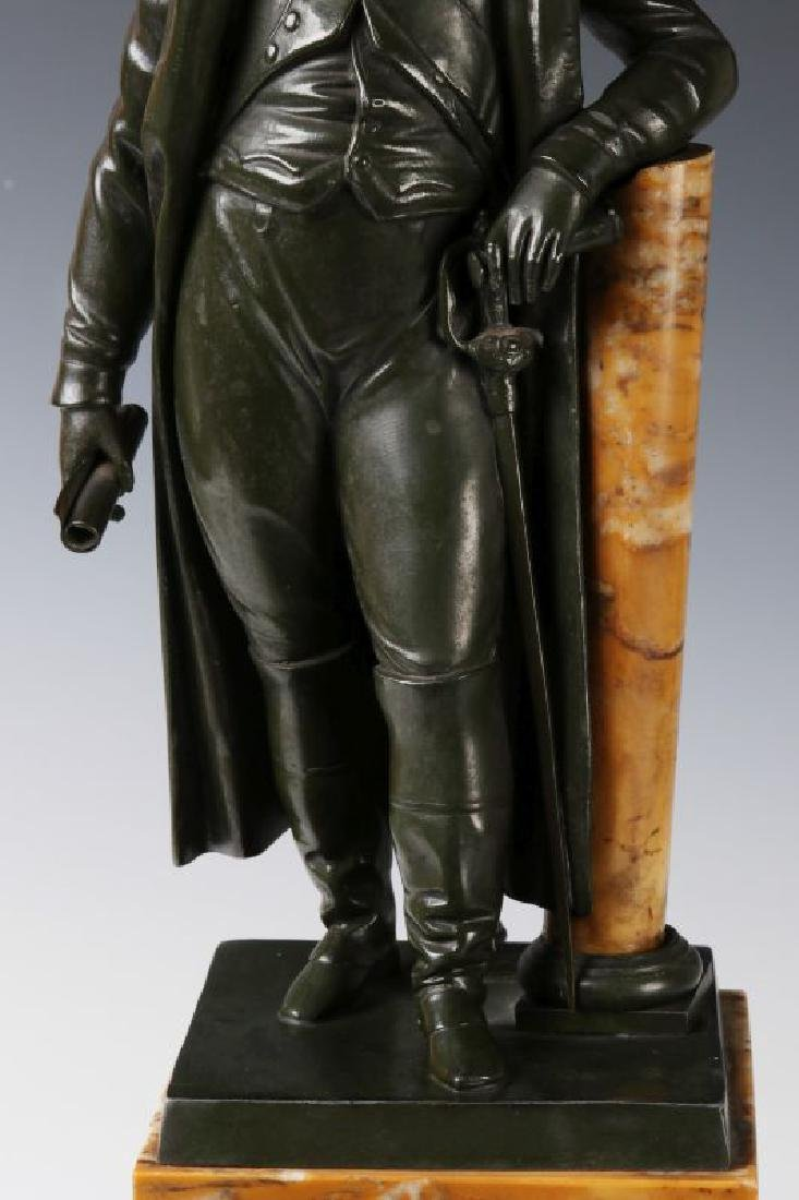 A 19TH C. FRENCH NAPOLEON BRONZE AS TABLE LAMP - 3