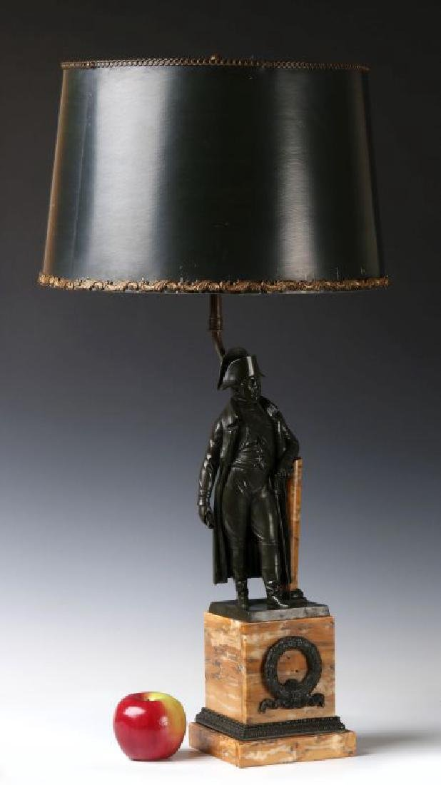 A 19TH C. FRENCH NAPOLEON BRONZE AS TABLE LAMP - 5