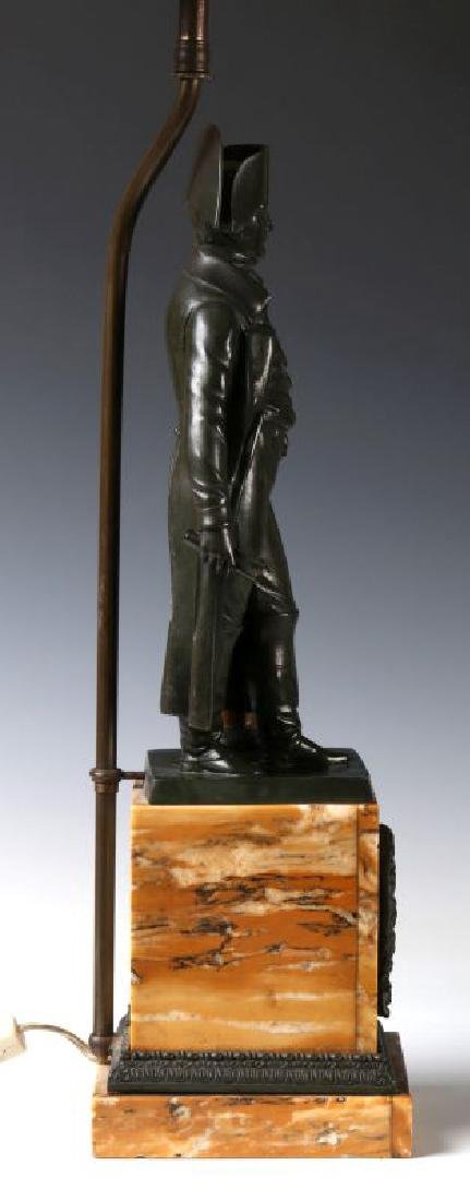 A 19TH C. FRENCH NAPOLEON BRONZE AS TABLE LAMP - 7