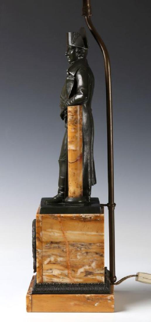 A 19TH C. FRENCH NAPOLEON BRONZE AS TABLE LAMP - 9