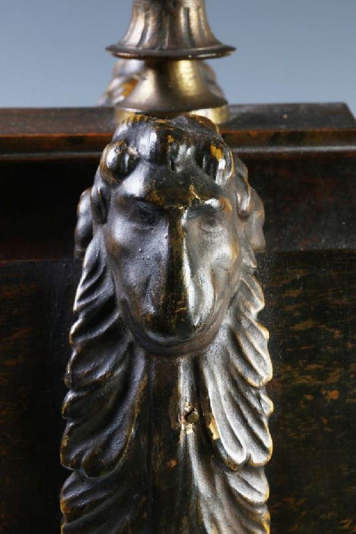 A 19TH C. FRENCH FAUX BURLED GRAIN CLOCK W/ BRONZE - 7