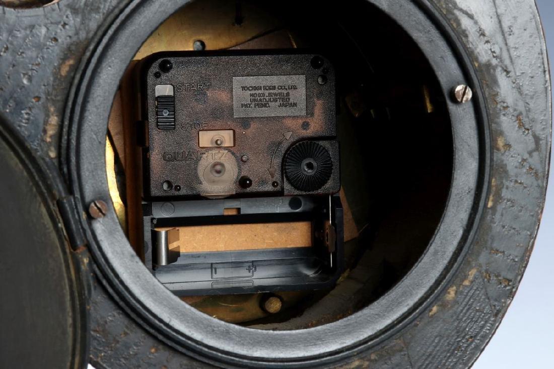 A 19TH C. FRENCH FAUX BURLED GRAIN CLOCK W/ BRONZE - 9