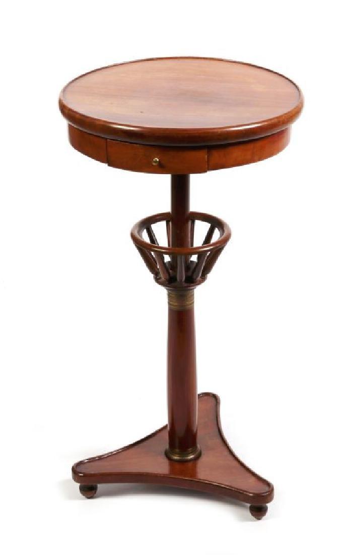 A 19TH CENTURY FRENCH MAHOGANY WORK TABLE