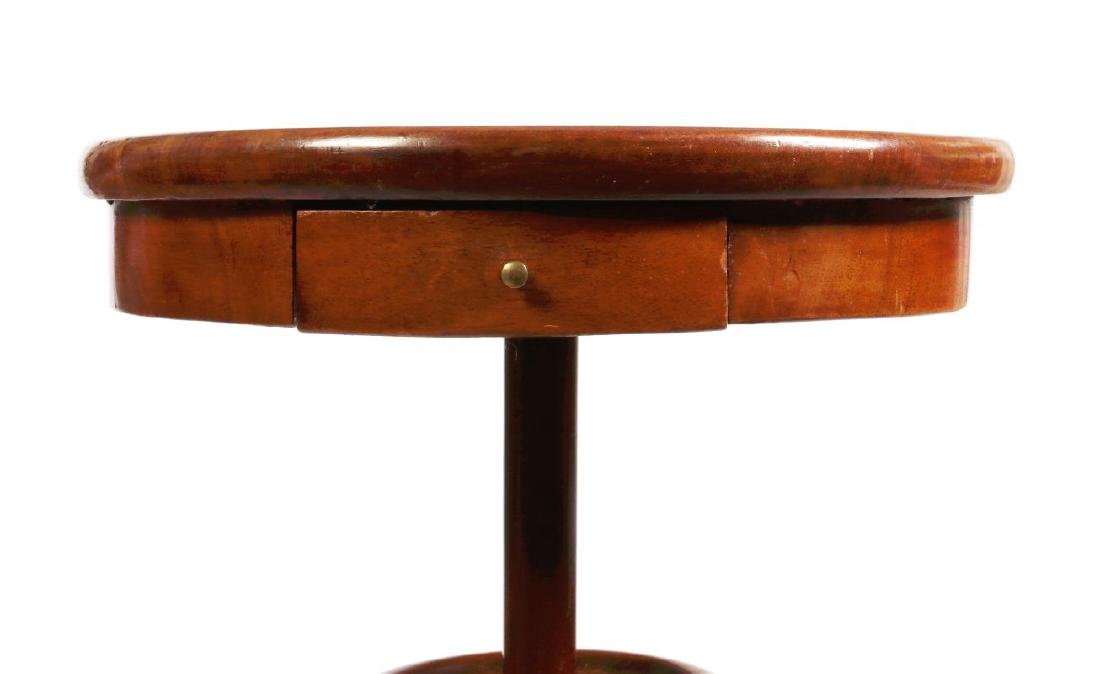 A 19TH CENTURY FRENCH MAHOGANY WORK TABLE - 2