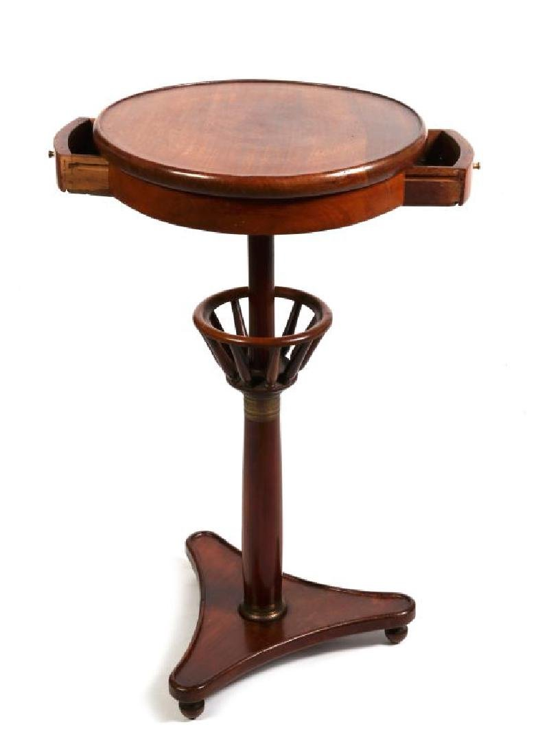 A 19TH CENTURY FRENCH MAHOGANY WORK TABLE - 4