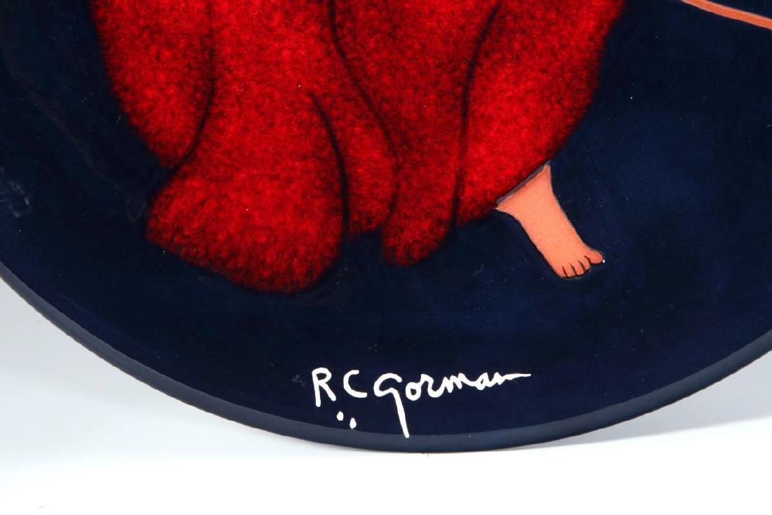 A LIMITED R C GORMAN (1932-2005) POTTERY PLAQUE - 6