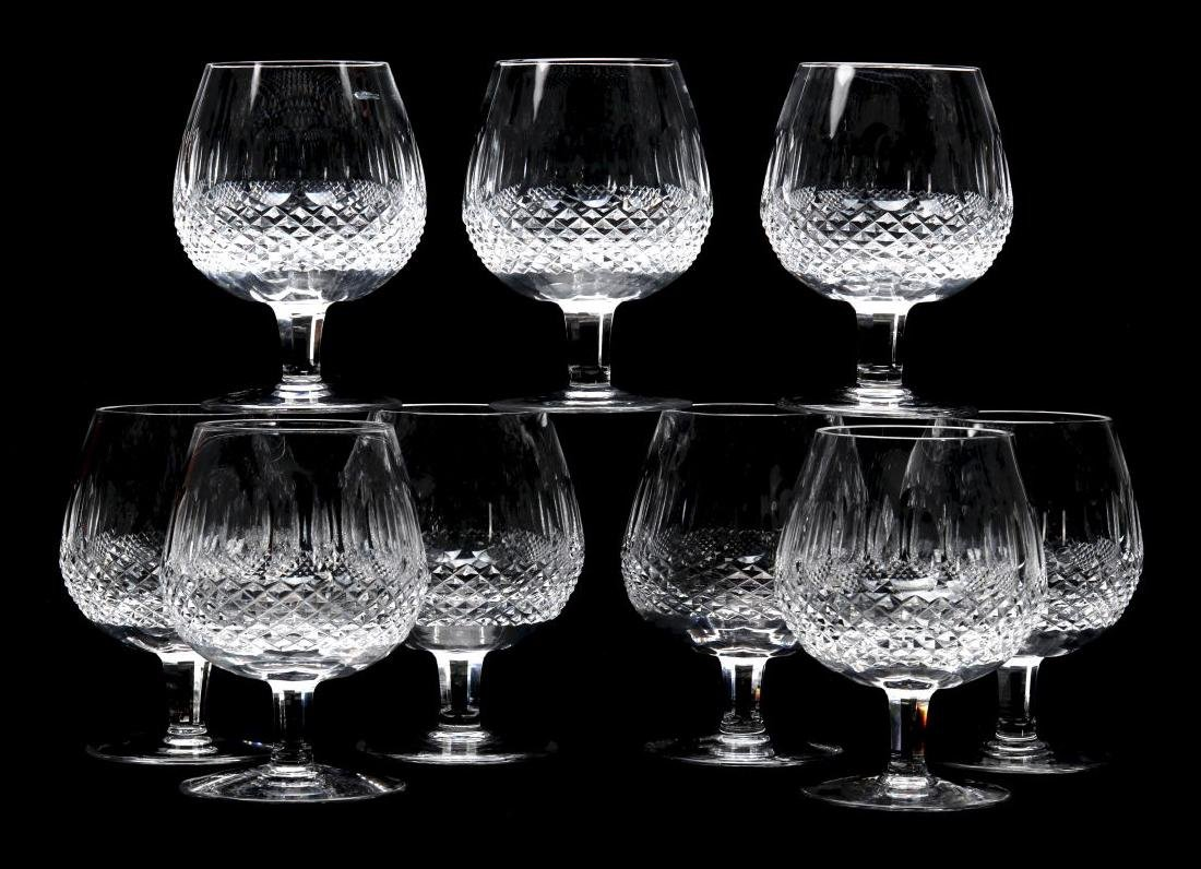 NINE WATERFORD 'COLLEEN' LARGE BRANDY GLASSES
