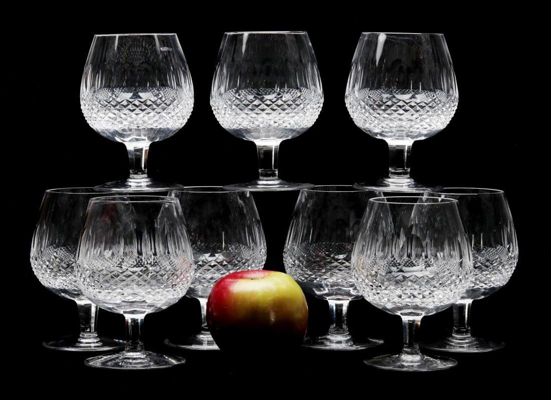 NINE WATERFORD 'COLLEEN' LARGE BRANDY GLASSES - 2