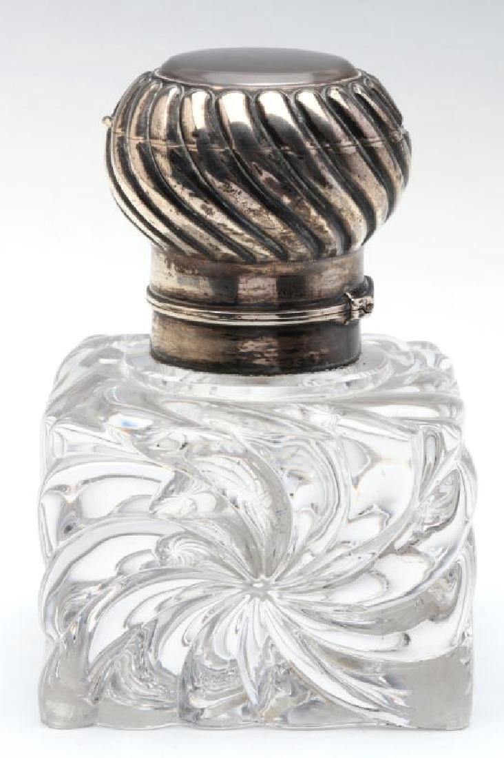 A BACCARAT CRYSTAL INKWELL WITH SECOND RECEPTACLE - 6