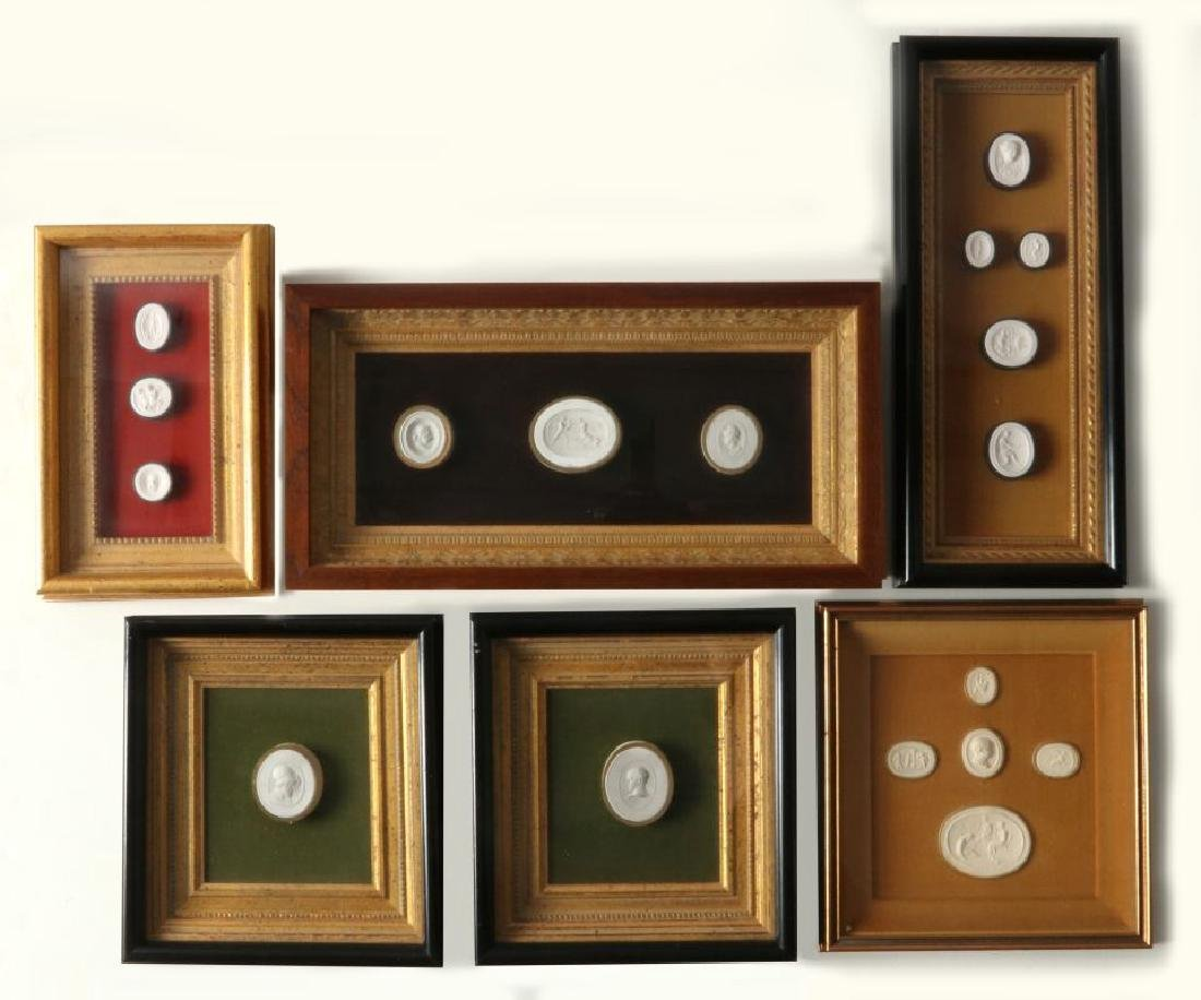 A COLLECTION OF ANTIQUE PLASTER INTAGLIOS