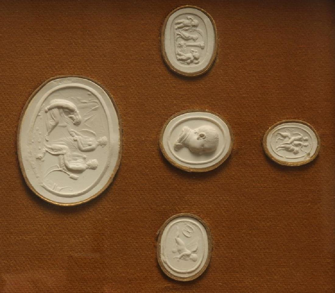 A COLLECTION OF ANTIQUE PLASTER INTAGLIOS - 4