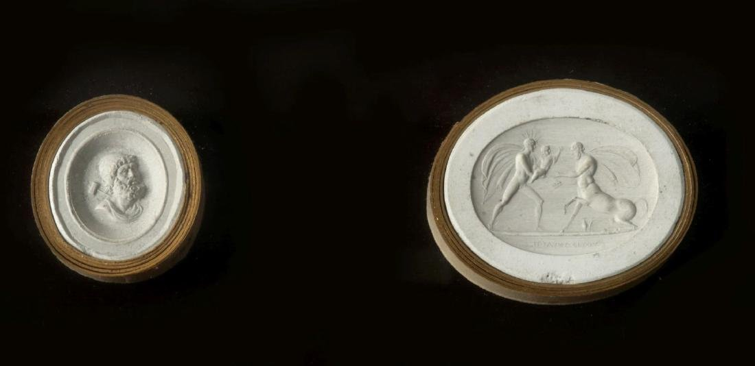 A COLLECTION OF ANTIQUE PLASTER INTAGLIOS - 8