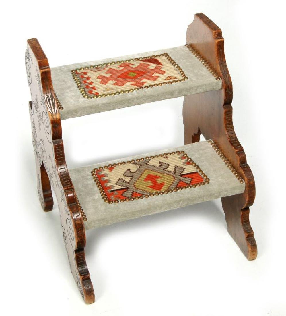 A 19TH. CENTURY CONTINENTAL TWO-TIER STOOL