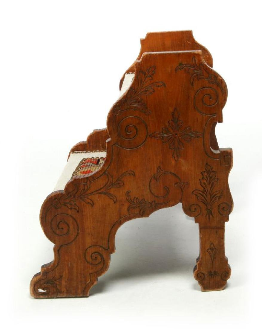 A 19TH. CENTURY CONTINENTAL TWO-TIER STOOL - 5