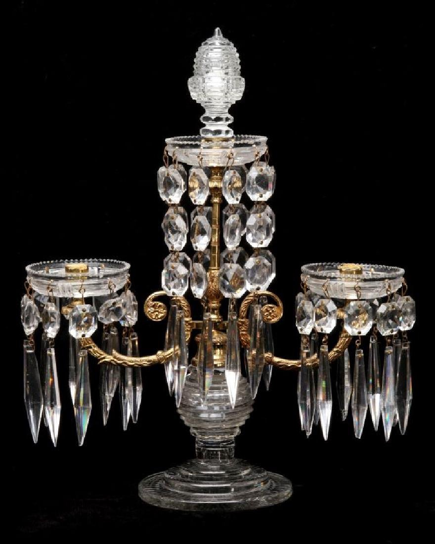 FRENCH CRYSTAL AND ORMOLU GIRANDOLE WITH ADDITIONS - 4