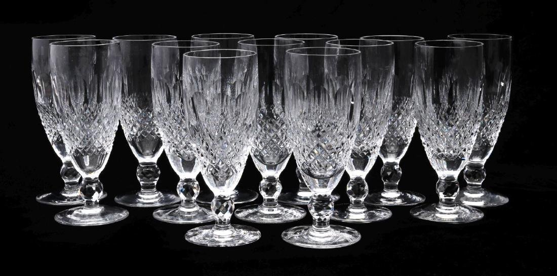THIRTEEN WATERFORD 'COLLEEN' CHAMPAGNE FLUTES