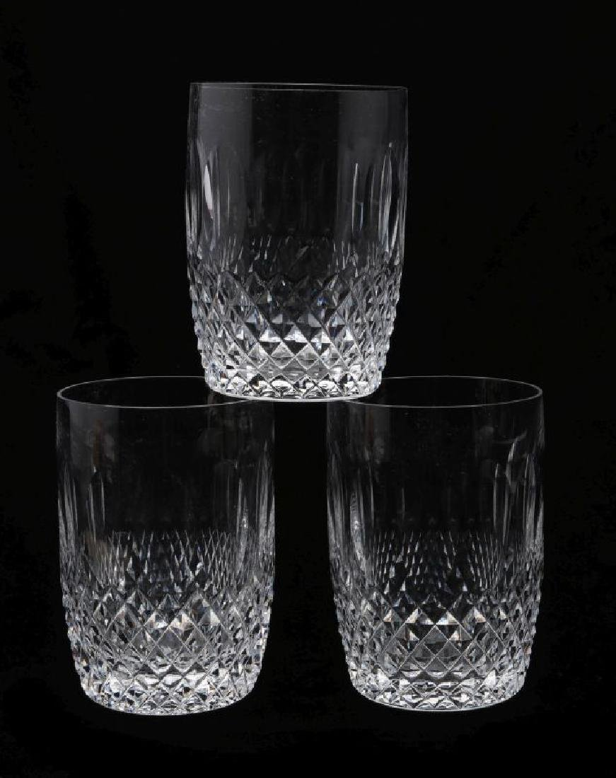 THREE WATERFORD 'COLLEEN' FLAT TUMBLERS