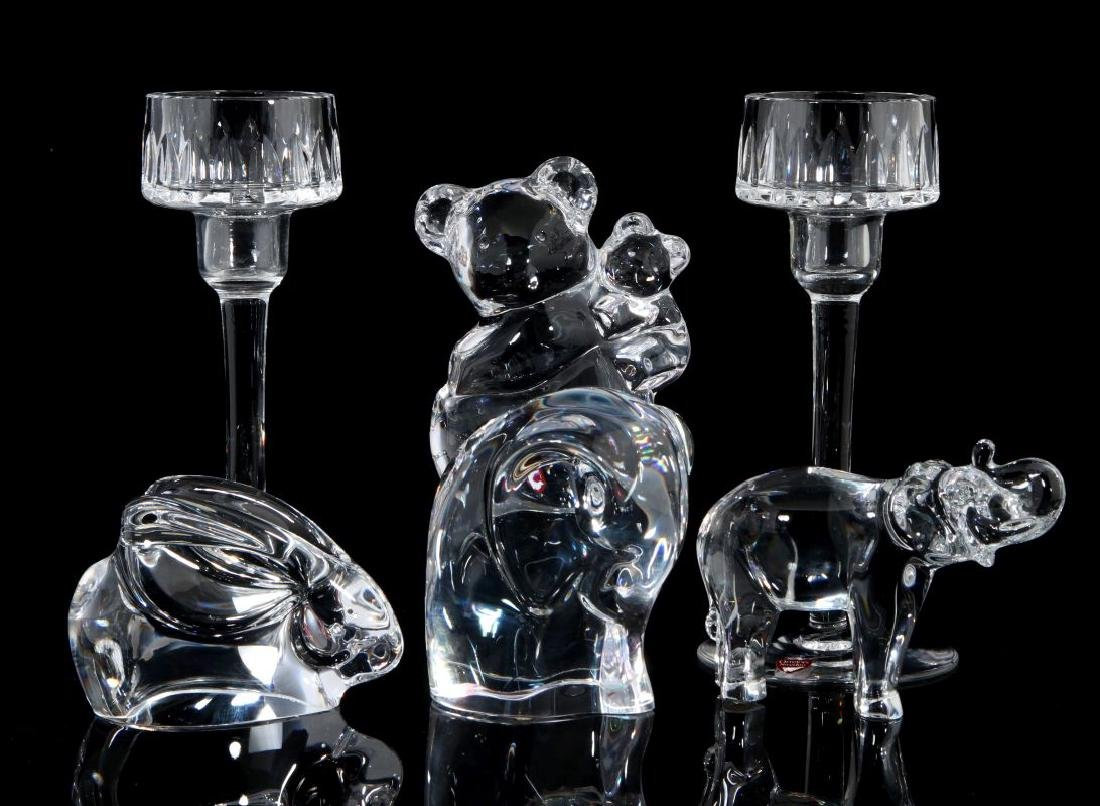 A COLLECTION OF ORREFORS CRYSTAL DECOR