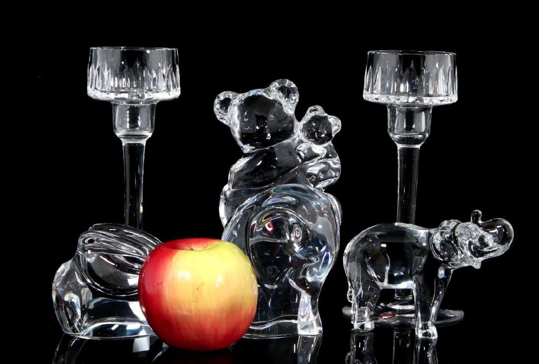 A COLLECTION OF ORREFORS CRYSTAL DECOR - 2
