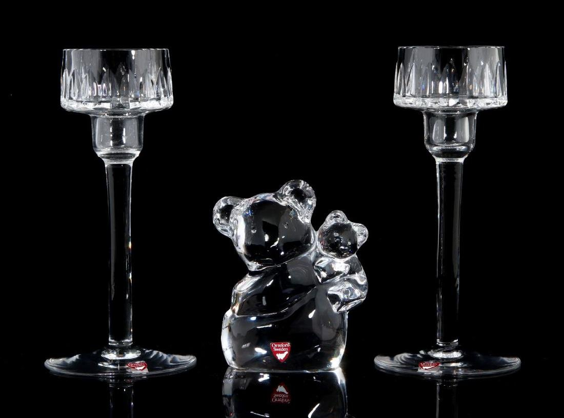 A COLLECTION OF ORREFORS CRYSTAL DECOR - 3