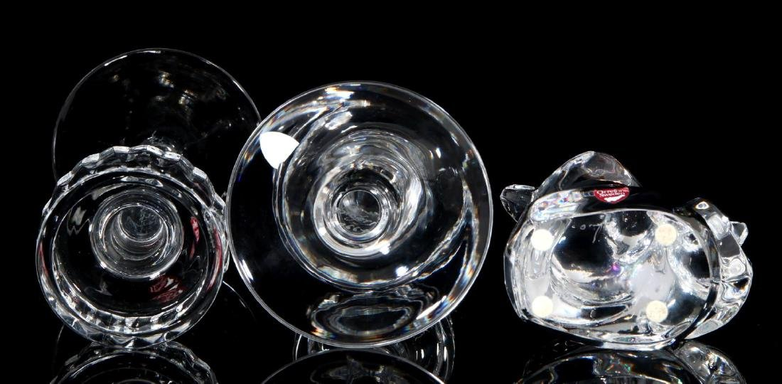 A COLLECTION OF ORREFORS CRYSTAL DECOR - 5