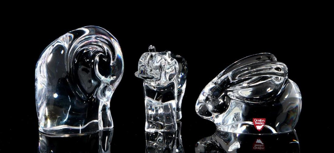 A COLLECTION OF ORREFORS CRYSTAL DECOR - 7
