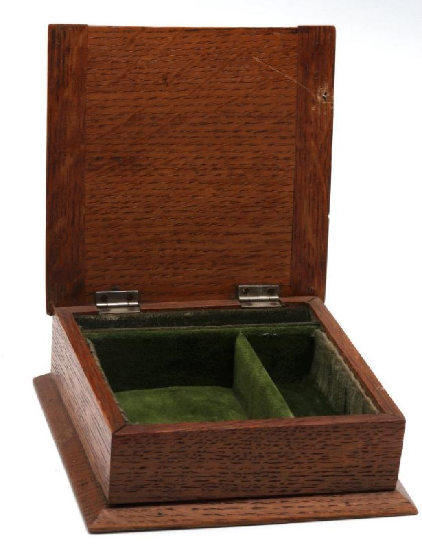 1905 OAK BOX WITH STERLING SILVER REYNOLDS ANGELS - 5