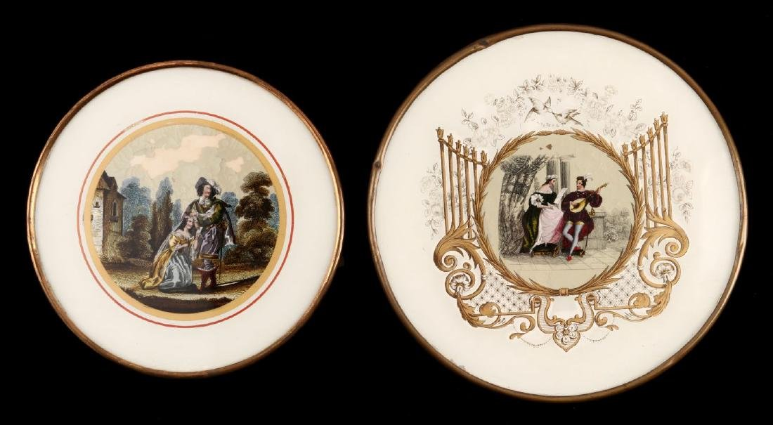 TWO GOOD 19TH C FRENCH DRAGEES BONBON BOXES