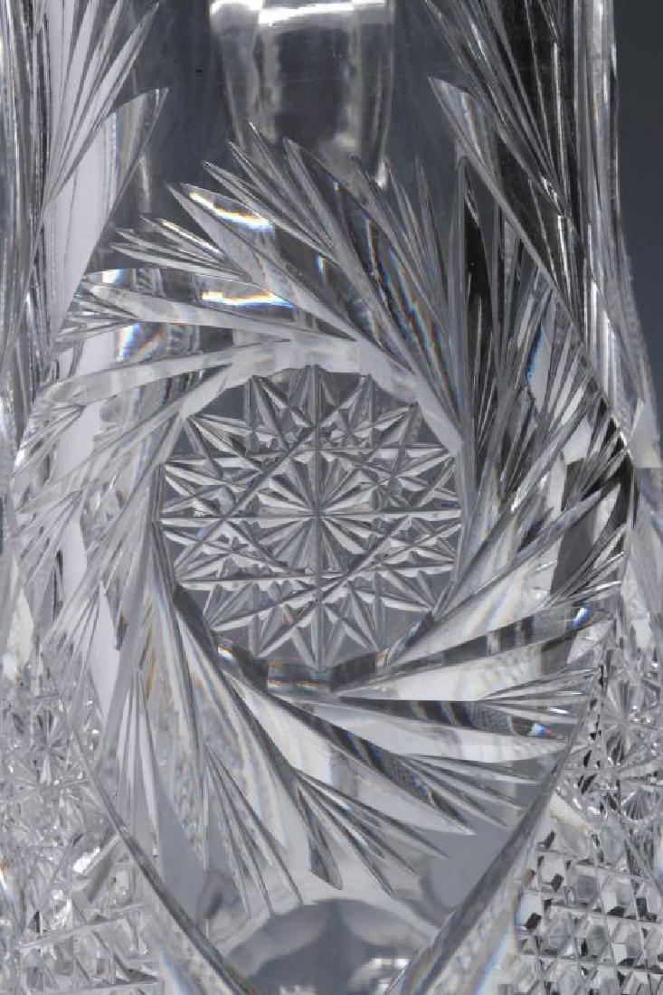 AN ABP CUT GLASS EWER,  13-INCHES - 4