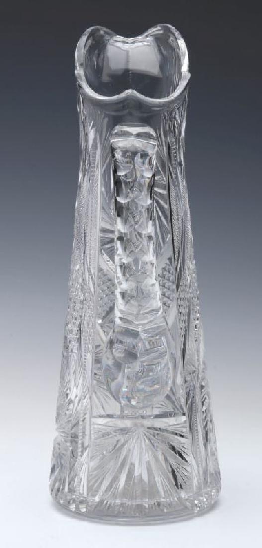 AN ABP CUT GLASS EWER,  13-INCHES - 6